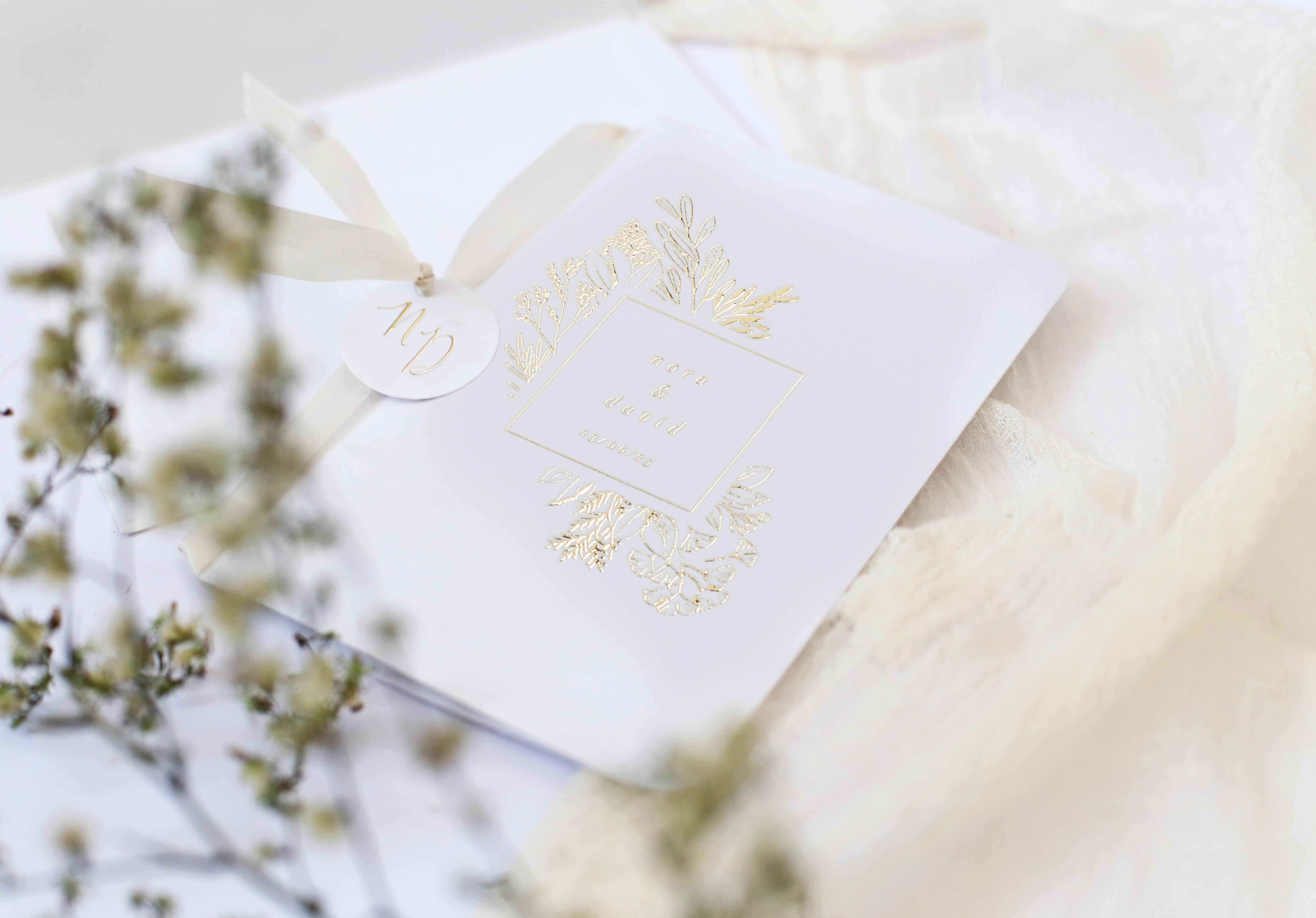 Invitación de boda elegante Victoria II