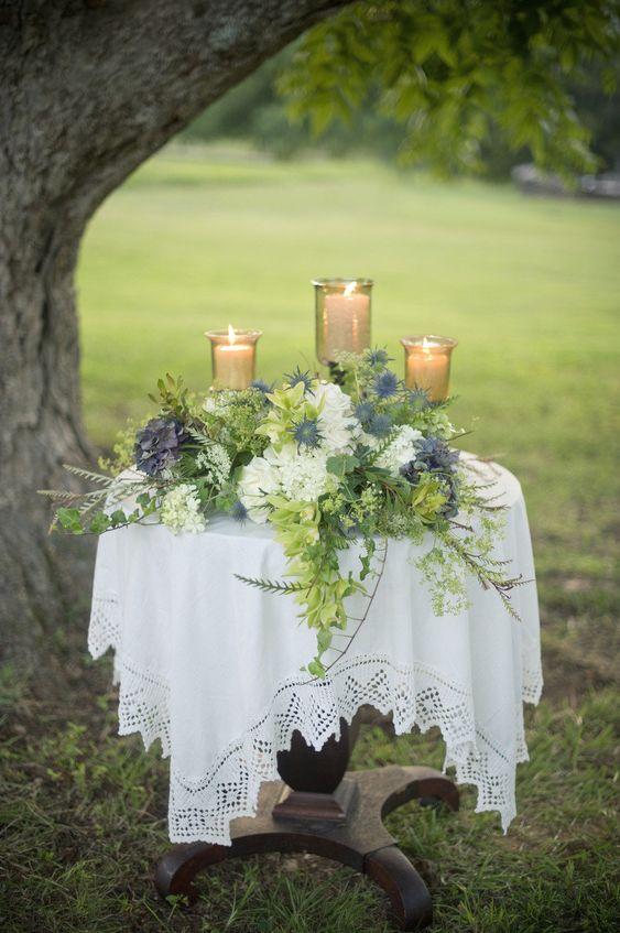 altar de boda para las velas